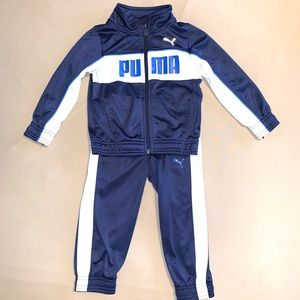 PUMA Navy white TRACK SUIT 2T